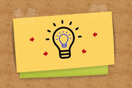 """""""Idea"""" on sticky note"""