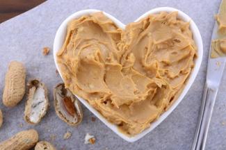 Peanut Butter in Heart Dish